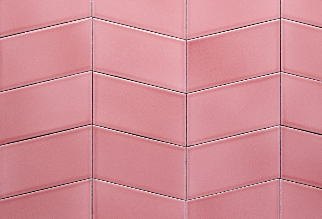 Wings lava tiles in colour rose... would work well in every room.