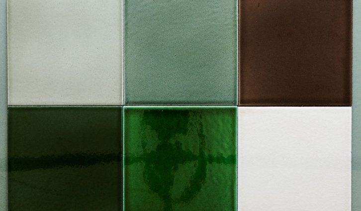 Lava square tiles size 20 x 20 cm in a mix of greens - an absolute favorite