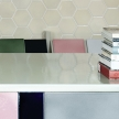 See below. Shown here is countertop in the showroom in the color pine